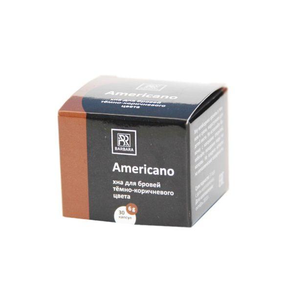 """BARBARA HENNA- ,,Americano"""" sötétbarna szemöldök henna 6g"""