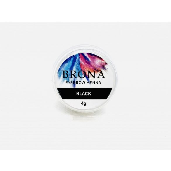 BRONA EYEBROW HENNA- Szemöldök henna- Black