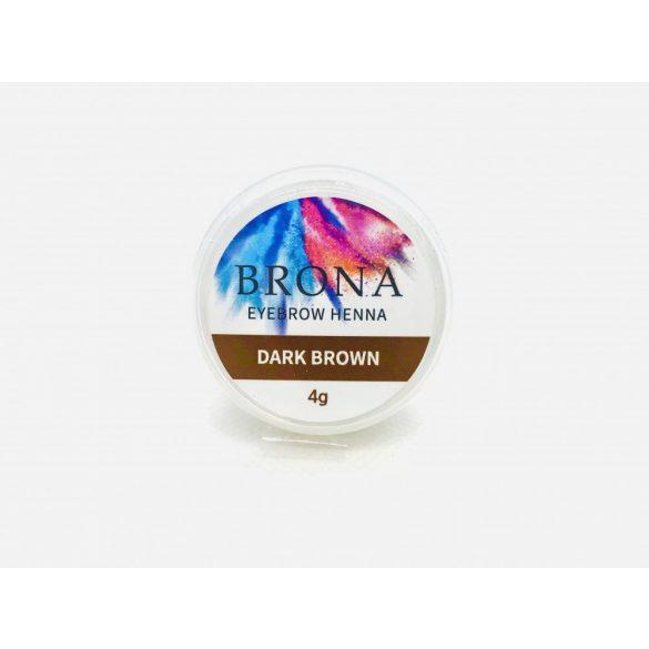 BRONA EYEBROW HENNA- Szemöldök henna-Dark Brown