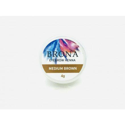 BRONA EYEBROW HENNA- Szemöldök henna-Medium Brown
