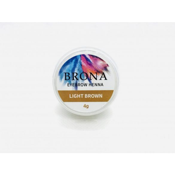 BRONA EYEBROW HENNA- Szemöldök henna-Light Brown